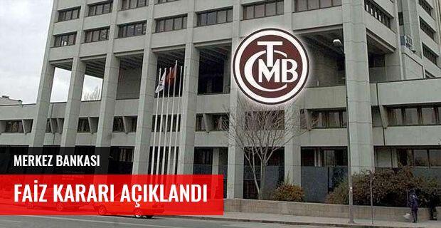 MERKEZ BANKASI FAİZ KARARI AÇIKLANDI