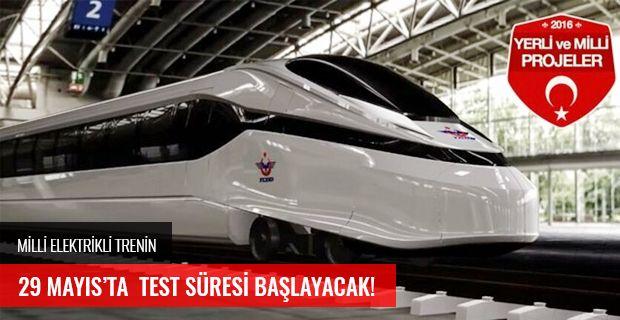 MİLLİ ELEKTRİKLİ TRENİN 29 MAYIS'TA TEST SÜRESİ BAŞLAYACAK!